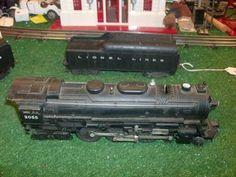 lionel trains postwar no 2055 die cast loco and 2046w tender very nice