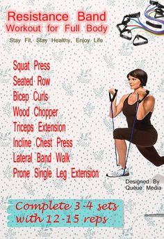 Resistance Band Workout for Full Body #workout #exercise