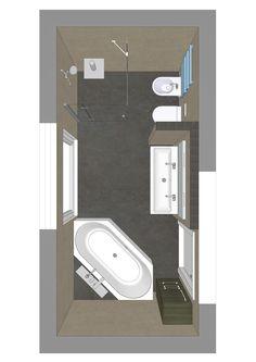 Badezimmer mit 6eck-Badewanne