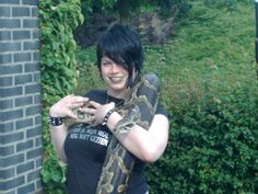 Here with Ka the Tiger python, pic is from 2009.