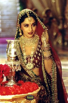 """Madhuri Dixit in """"Kahey Ched"""" -Kathak style dance tracofk from Devdas One of my many Favourites. :DD, luv the songs, costume, Bollywood Stars, Bollywood Fashion, Bollywood Cinema, Vintage Bollywood, Bollywood Celebrities, Bollywood Actress, Indian Dresses, Indian Outfits, Glamour"""