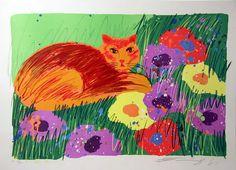 Flores y Palabras: Walasse Ting: Flores, loros y gatos