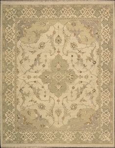 Delicate China Bisque Forms The Lush Color Field Of This Supremely Subtle  And Elegant Rug,