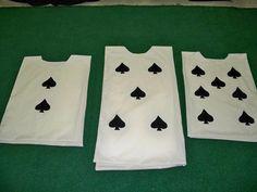 Alice in Wonderland Cards Costumes DIY Spades Queen of Hearts