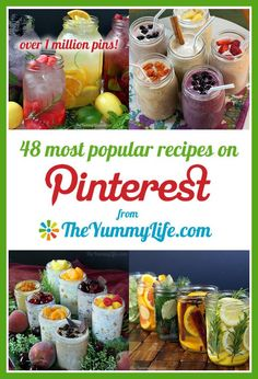 The Yummy Life's 48 most popular recipes on Pinterest. The top one has over a million pins! www.theyummylife.com/Pinterest__Popular_Recipes