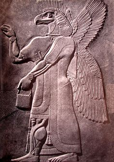 Relief from Ashurnasirpal II's palace at Nimrud of a Assyrian Kuribu