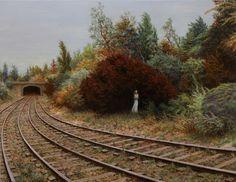 Delayed , oil on canvas, 31 x 40 in / 79 x 102 cm, 2012 by aronwiesenfeld    www.aronwiesenfeld.com