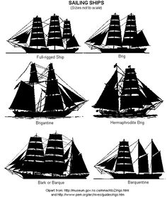 Types of Tall Ship