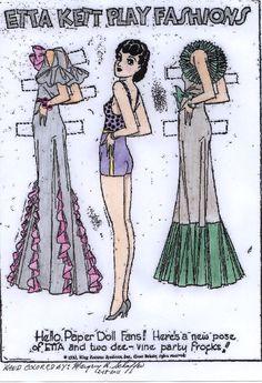(⑅ ॣ•͈ᴗ•͈ ॣ)♡                                                             ✄Etta Kett | Etta Kett Play Fashions paper doll 7-23-33