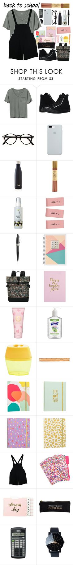 """""""Go Back-to-School Shopping!"""" by basmahahmed ❤ liked on Polyvore featuring Gap, Converse, ETUÍ, S'well, Fine & Candy, too cool for school, Pineider, Sakroots, Tory Burch and Fiskars"""