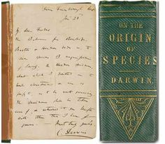 First Edition inscribed by Charles Darwin goes under hammer at New York.