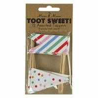 Toot Sweet Fahne Cupcake Einstecker
