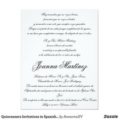 Quinceanera invitations in spanish 425 x 55 quinceanera quinceanera invitations in spanish 425 x 55 stopboris Image collections
