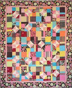 Feelin Groovy Quilt by Tricia Cribbs www.TurningTwenty.com