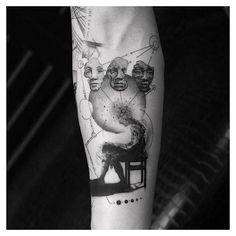 Tattoo by Balazs Bercsenyi based in NYC