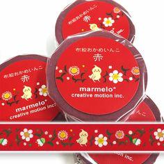 布絵おかめいんこ-赤 マスキングテープ