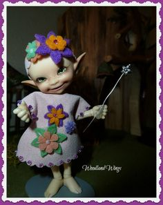 Wildflower Dress with head band and flower wand by WoodlandWings, $28.00