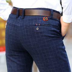New England plaid pants dress pants men High Quality Stretch sanding male trousers men's winter Long pants - Men Pants - Plaid pants Mens Dress Pants, Plaid Pants, Casual Pants, Men Dress, Plaid Dress, Suit Pants, Dress Casual, Mens Business Dress, Business Casual