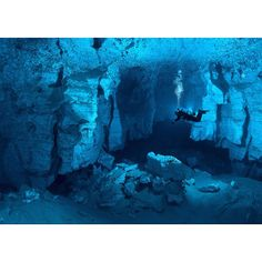 Cave diving!