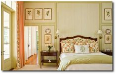 southern living bedrooms   Green Bedroom Wall Paneling Southern Living Magazine