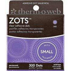 Zots Clear Adhesive Dots - Great for keeping your O2 charms in one place!
