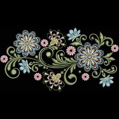 Thrilling Designing Your Own Cross Stitch Embroidery Patterns Ideas. Exhilarating Designing Your Own Cross Stitch Embroidery Patterns Ideas. Embroidery Flowers Pattern, Silk Ribbon Embroidery, Vintage Embroidery, Cross Stitch Embroidery, Embroidery Ideas, Embroidery Transfers, Free Machine Embroidery Designs, Mehndi Style, Pretty Designs