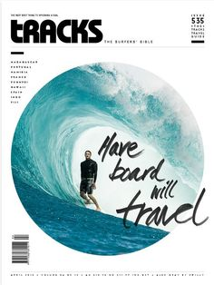 This magazine cover is very modern. I like the amount of white space that it has all around. The circle photo was a good idea because it talks about tunnel vision in the wave and that closed on circle photo makes sense. It wouldn't have the same effect if the photo was larger and took up more space