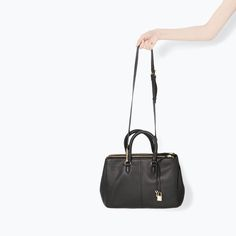 ZARA - SHOES & BAGS - LEATHER CITY BAG WITH ZIPS