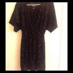 H&M black velvet detail dress Comfy dress! Part of H&M's conscious collection H&M Dresses