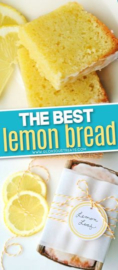 Perfectly Lemony Lemon Bread is tart and sweet and finished off with a mouthwatering glaze! This easy lemon bread is extra moist and lemony thanks to a simple lemon syrup. Delicious with breakfast, as a snack or even dessert! // Glorious Treats #lemonbread #lemonrecipes #lemondesserts #lemoncake #lemon #baking #breadrecipes #cakerecipes #dessertrecipes Lemon Dessert Recipes, Lemon Recipes, Fun Desserts, Baking Recipes, Delicious Desserts, Bread Recipes, Baking Breads, Brunch Recipes, Dessert Ideas