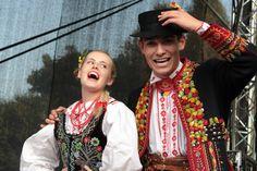 Folk costumes of Lachy Sądeckie, Sądecczyzna region, Poland.
