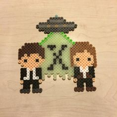 X-Files perler beads by Angela