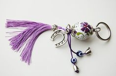 Horse Shoe Key Chain Handmade Evil Eye and by TheEvilEyeBAZAAR Christmas Time, Christmas Crafts, Xmas, Amulets, Evil Eye, Key Chain, Charms, Horses, Personalized Items