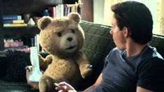 """Ted - Restricted Clip: """"Ted and John discuss Boston girls"""" best part of the movie! John Bennett, Seth Macfarlane, 2012 Movie, Name Games, Funny Comments, Mark Wahlberg, Red Band, Movie Trailers, Childhood"""