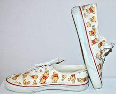6f33cdf380d Winnie the Pooh 80s VINTAGE VANS Sneakers Punk Skate Tennis Shoes Shoes  Size 9