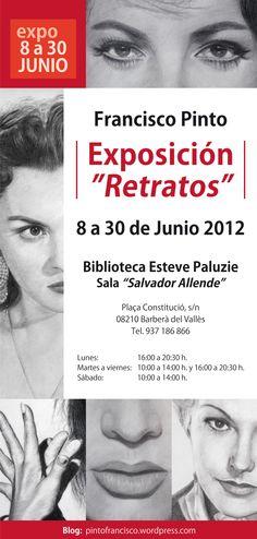"""Diseño: Flyer Exposición """"Retratos"""" de Francisco Pinto."""