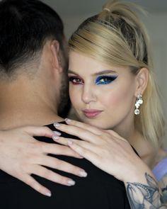 #iMikriOllandeza #MikriOllandeza #makeup #boldmakeup #differenteyemakeuplooks #aesthetic #naturalbrows #septum #septumpiercing #septumring #falselashes #redmakeup #bluemakeup #cateye #cateyemakeup #makeuplook #2020 Cat Eye Makeup, Red Makeup, Makeup Looks, Natural Brows, False Lashes, Septum Ring, Earrings, Fashion, Red Dress Makeup