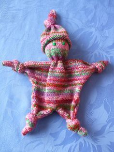 tricoter un doudou facile…
