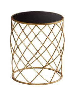 Gold Weave Side Table, www.highstreetmarket.com