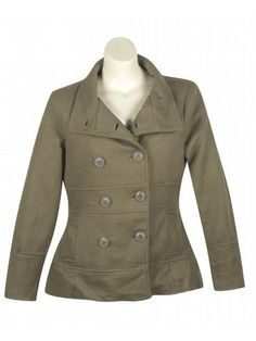 Tan Country Coat $79  http://www.alight.com/last-kiss-tan-country-coat.html  Soft and cuddly jacket has double buttons at the front that go up the collar to secure against a cold wind. Two open pockets at the hips keep hands toasty warm.