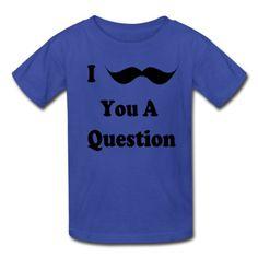 Spreadshirt mustache Kids T-Shirt royal blue S_6-8_J