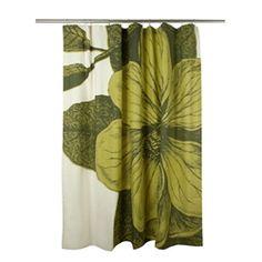 "72"" Botanical Shower Curtain - Chartreuse | ShopThomasPaul"