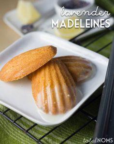 Lavender Madeleines with Lemon Glaze - Guest Post on Omeletta - Total Noms