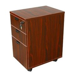 Boss Office Products 3 Drawer Mobile Pedestal Box Color: Mahogany