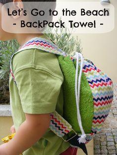 Ana e os Vira-Ventos: Beach Backpack Tutorial