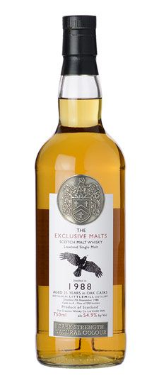 "1988 Littlemill 25 Year Old K&L Exclusive ""Exclusive Malts"" Single Barrel Cask Strength Lowland Single Malt Whisky 750ml"