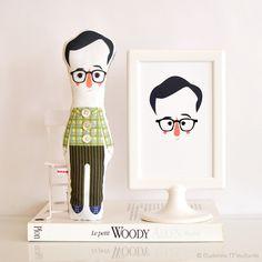 Poupées, Woody Allen Doll, poupée Woody Allen est une création orginale de mlle-moutarde-eudeline sur DaWanda