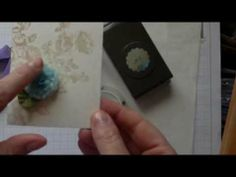 How to make flowers with the creped filter paper from Stampin' Up! by Michelle Last