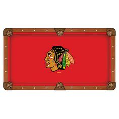Chicago Blackhawks Pool Table Cloth