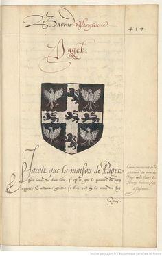 « Recüeil des principaux seigneurs qui passèrent la mer avec Guillaume Conquéreur d'Angleterre, et de plusieurs autres qui, après le décès dudict Guillaume, se retirèrent en Angleterre, et quelz honneurs et estatz ilz ont eu en la Court des roys dudict païs jusques aprésent ; ensemble les gestes, alliances généalogiques, mariages et armaries des duc, marquis, comtes, vicomtes et barons estant de présent en honneur en la Court d'Angleterre », par « J[ean] BENARD », interprète du roi.